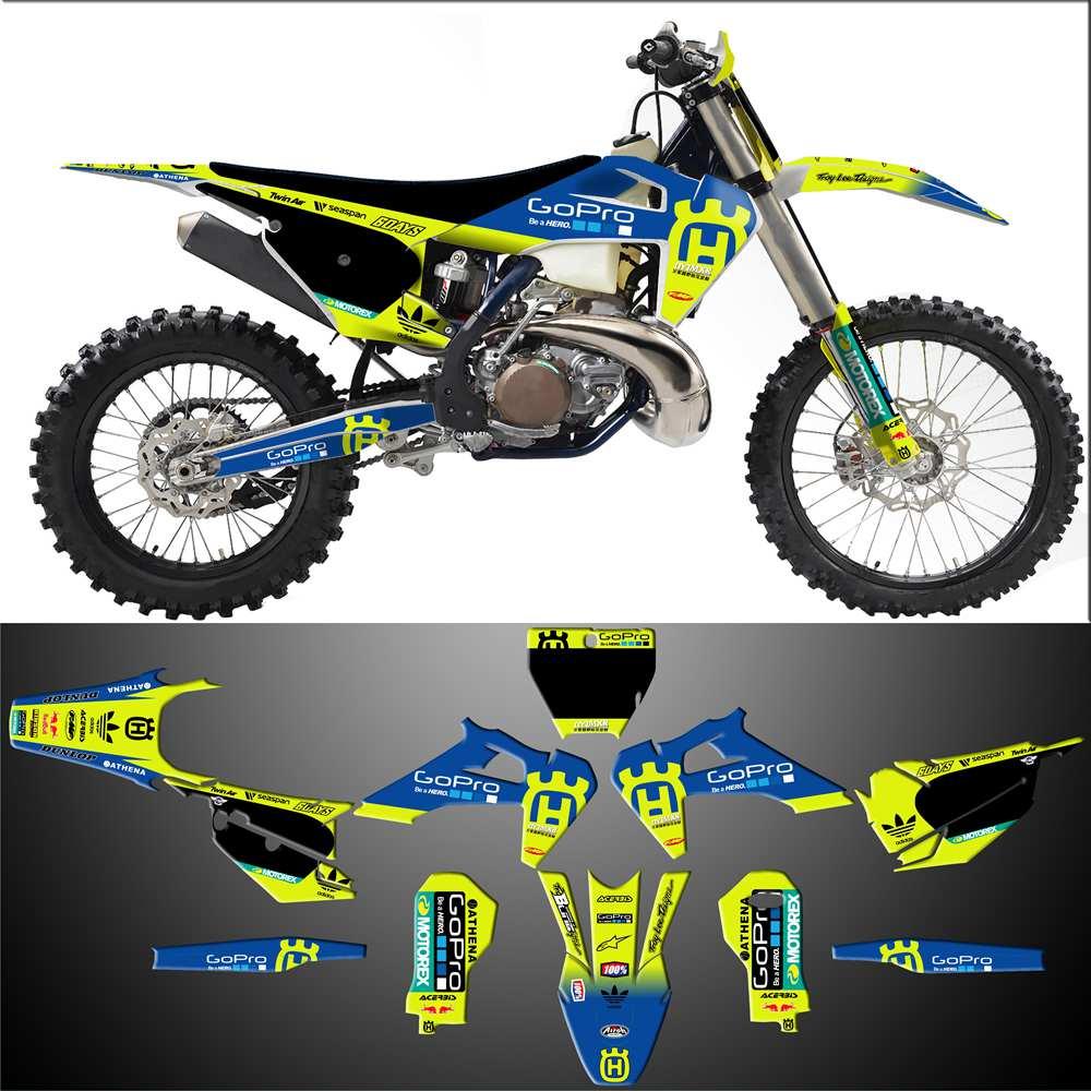 Deco kit for motorcycle//mx decal kit for husqvarna fc//fe//tc//te-patriot