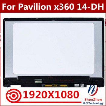 """Original 14.0"""" FHD LCD Display Touch Screen Assembly For HP Pavilion x360 14M-DH0003DX 14-DH0008CA For HP Pavilion 14-dh"""