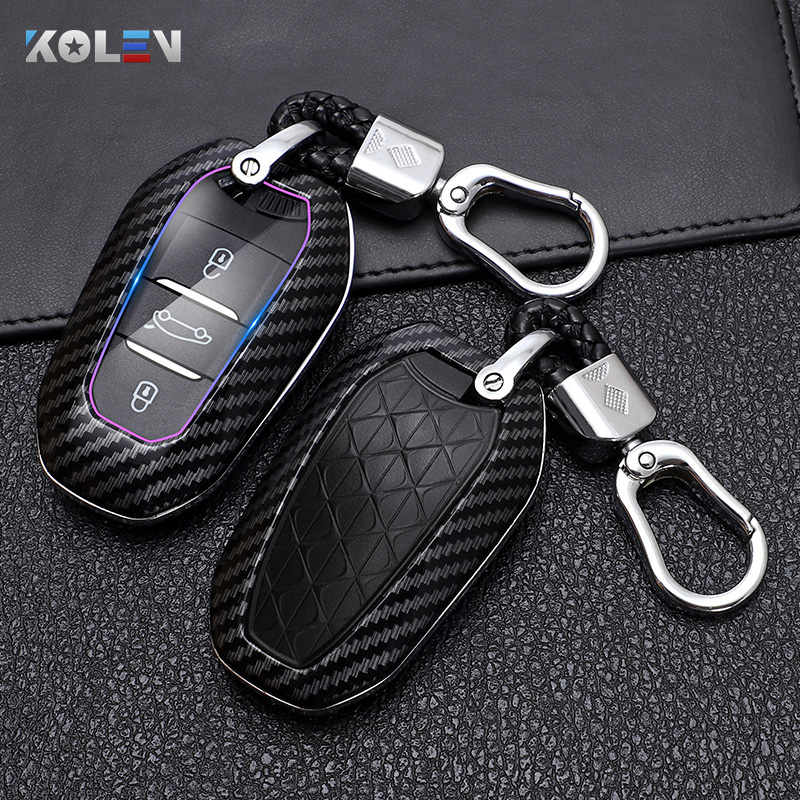ABS Car Remote Key Case Shell Full Cover Protect Fob For Peugeot 2008 3008 5008 For Citroen C3-XR C4 C4L C6 Picasso DS4 DS5 DS6