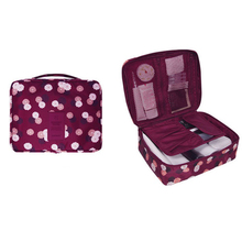 Floral Oxford Cosmetics Storage Bag