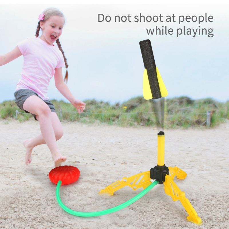 Kids Air Pressed Rocket Launcher Step Pump Children's Foot Toy Rocket Outdoor Parents Children