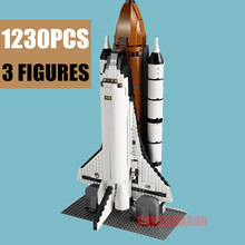 New 1230PCS Space Ship Shuttle Expedition Fit Legoings Technic Building Blocks Bricks Children Toys 10231 Kid Gift Christmas new movie potter great wall house fit legoings castle figures building blocks bricks model kid toys children kid gift birthday