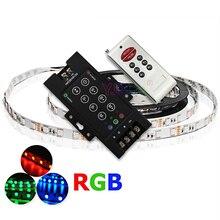 цена на LED 8 Key RGB Controller DC12V-24V 30A Black Iron with RF Remote RGB SMD 5050 3528 led Strip Light led Modules dimmer