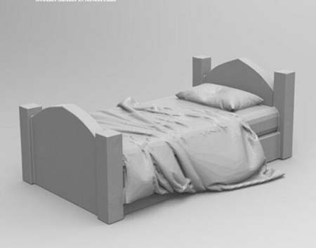 1/35 Ancient Bed (include One )    Resin Figure Model Miniature Gk Unassembly Unpainted