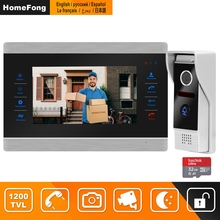 HomeFong Video Intercom Video Door Phone Doorbell Intercom for Home Wired 7 inch HD Monitor 1200TVL Video Doorbell Support CCTV cheap Hands-free CMOS Color Acrylic Wall Mounting 12V 1A None 90degree Analog 3 8MM Lens 1 3 CMOS 245*165*23mm M704SR AU Plug