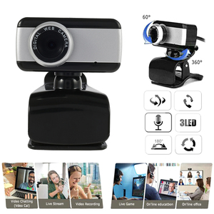USB 2.0 360 degree Web Cam Camera Webcam with Microphone for Computer PC Laptop Desktop