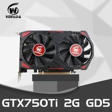 Видеокарта GTX 750Ti 2 Гб 128 бит GDDR5 видеокарты Geforce GTX 750Ti настольный компьютер для nVIDIA карта VGA Hdmi