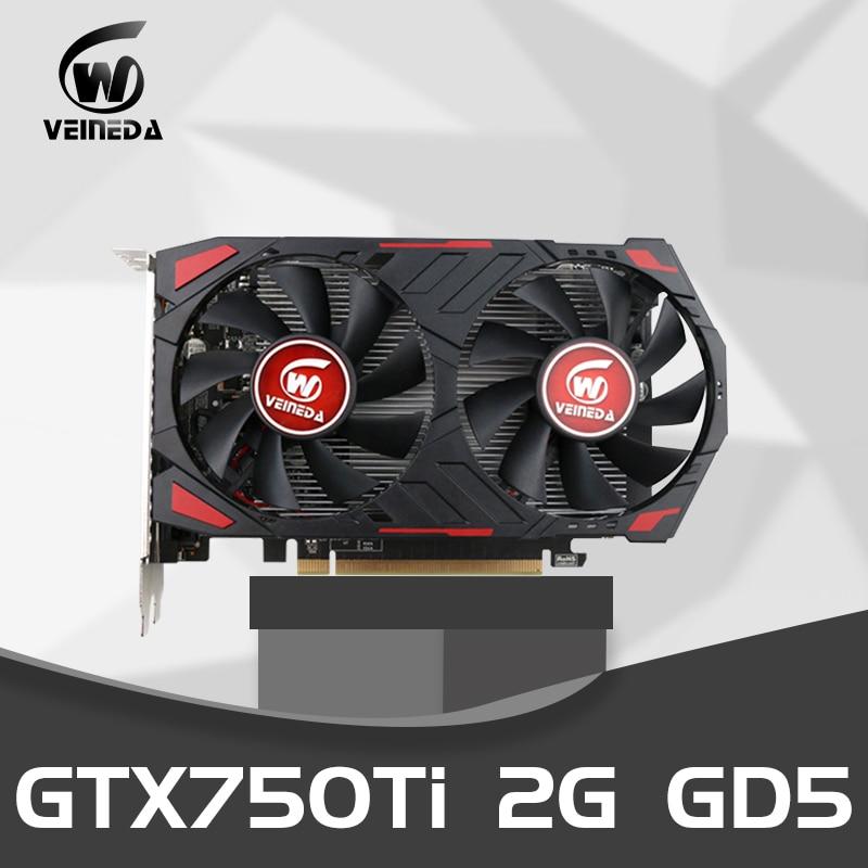 Видеокарта GTX 750Ti 2 Гб 128 бит GDDR5, графические карты Geforce GTX 750Ti для ПК, для nVIDIA Map VGA