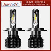 BraveWay bombillas de faro delantero de coche LED lámpara de Bombilla de luz antiniebla H1 H3 H4 H7 H11 HB3 HB4 9005 coche de 9006 luces Bombilla LED Kit de automóvil