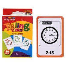 Relógio de tempo número alfabeto cartão de aprendizagem dizendo tempo cartões flash crianças adiantadas pré-escolar matemática inglês brinquedos educativos