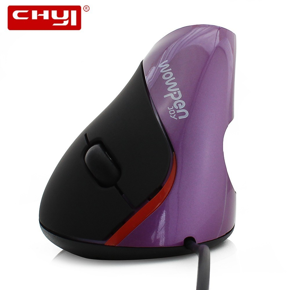 CHYI USB Wired Ergonomic Vertical Mouse Optical Computer Mice 1600DPI Right Hand Upright Healthy Mause With Mousepad For Laptop