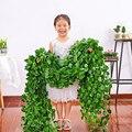 Искусственное растение parthenocensis Aamurensis, виноградный зеленый лист, венок «сделай сам», свадебная вечерние НКА, домашний бар, садовое настенное...