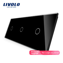 Livolo Luxury White Pearl Crystal Glass,222mm*80mm, only panel,Triple Glass Panel,VL-C7-C1/C1/C1-11 (4 Colors),no logo