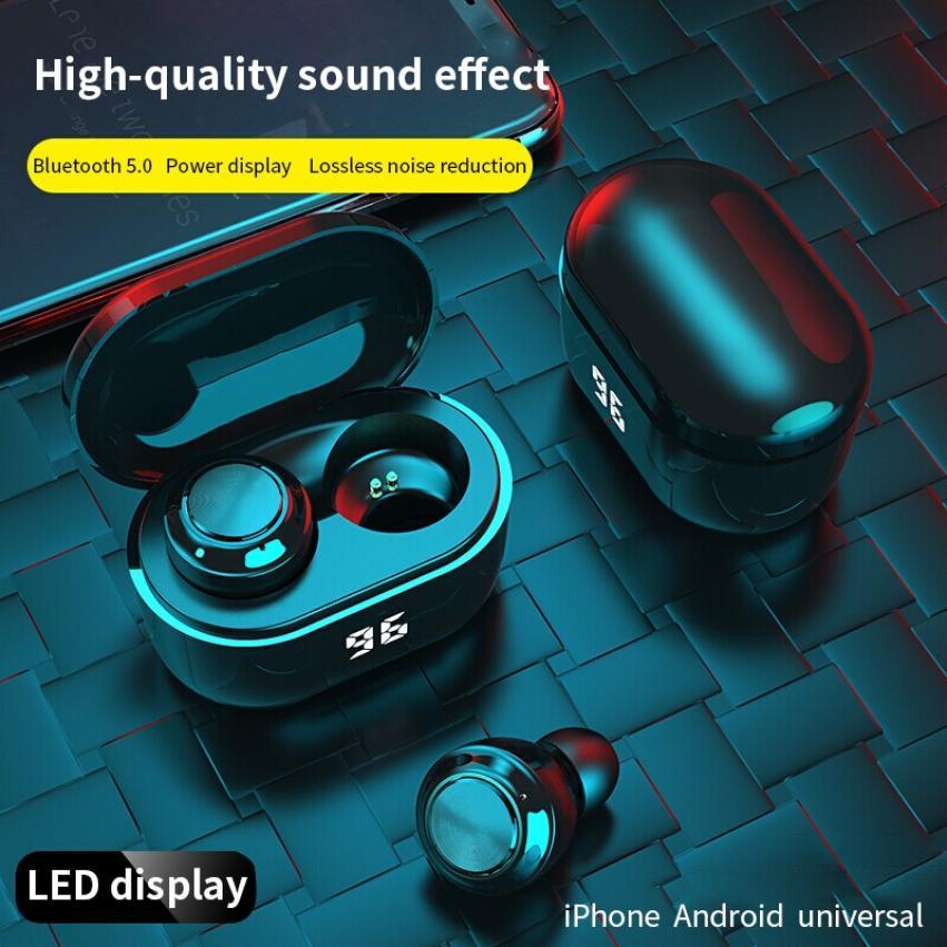 ZUTA-auriculares inalámbricos con Bluetooth 2021, dispositivo de audio TWS, con botón, Control, pantalla LED, deportivos, resistentes al agua, 5,0
