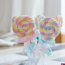 Accesorios de simulación de tiro de algodón mesa de postre dormitorio diseño escena dulces decorativos lollipop falso caramelo niños Fotografía