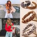 Ободок Леопардовый женский, модный ободок в Корейском стиле для девочек, аксессуары для волос, элегантный ободок с перехлёстом, женский гол...