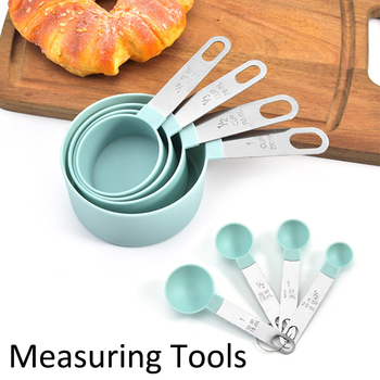 4Pcs/8pcs/10pcs Multi Purpose Spoons/Cup measuring cup Measuring spoon Tools PP Baking Accessories Stainless Steel/Plastic Handl