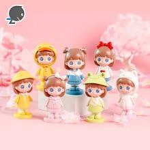 New sugar school blind box hand-made cartoon cute girl creative resin crafts student cake home decoration ornaments
