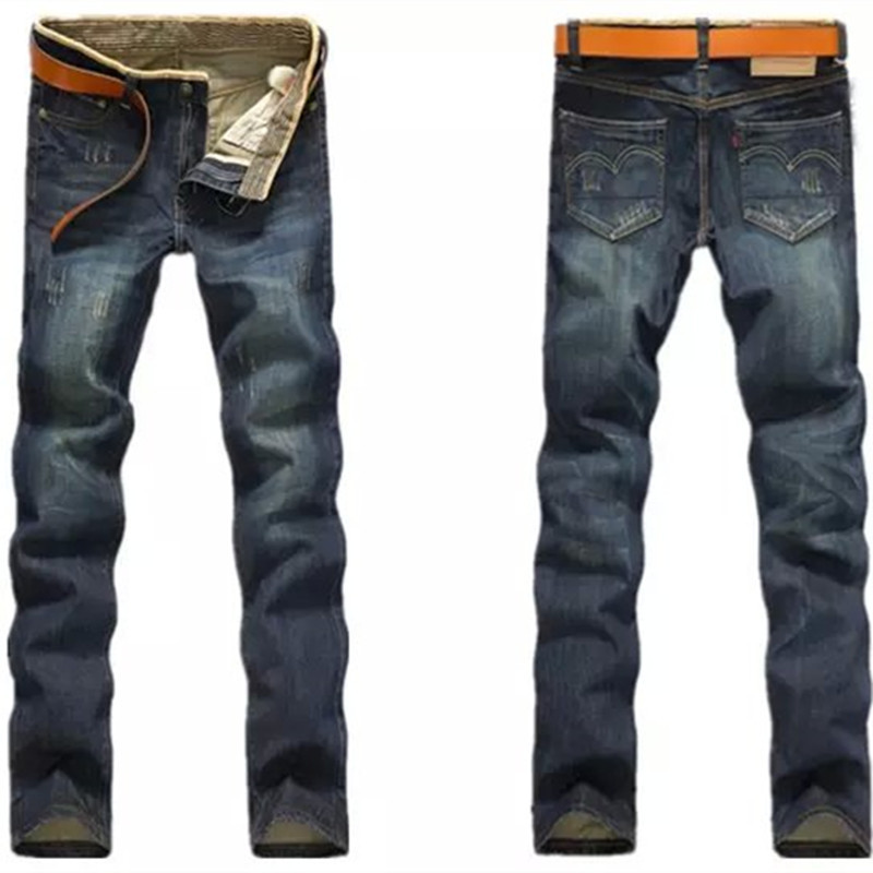 Cat Whisker Jeans Men's Spring And Autumn New Style Men's Fu Gu Ku Straight-Cut Korean-style MEN'S Casual Pants