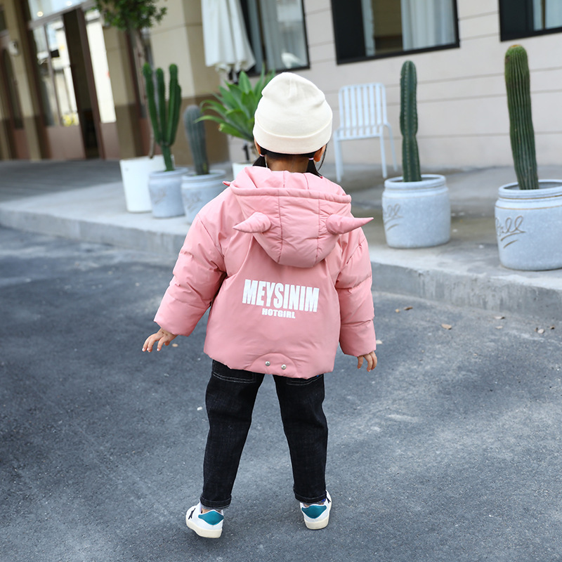 New girls down jacket Baby cute winter clothes Children 39 s white duck down jacket Girls winter windproof padded outdoor jacket in Down amp Parkas from Mother amp Kids