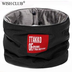 Winter Scarf Warm Cashmere Button Knit Warmer Neck Scarf Wrap Cowl Shawl Hip hop Thicken Scarf Men Women sciarpa con bottone(China)