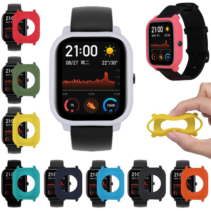 High Protective Case For Huami Amazfit GTS Watch Soft Silicone Shell Frame Bumper Smart Watch Protector GTS Cover Accessories