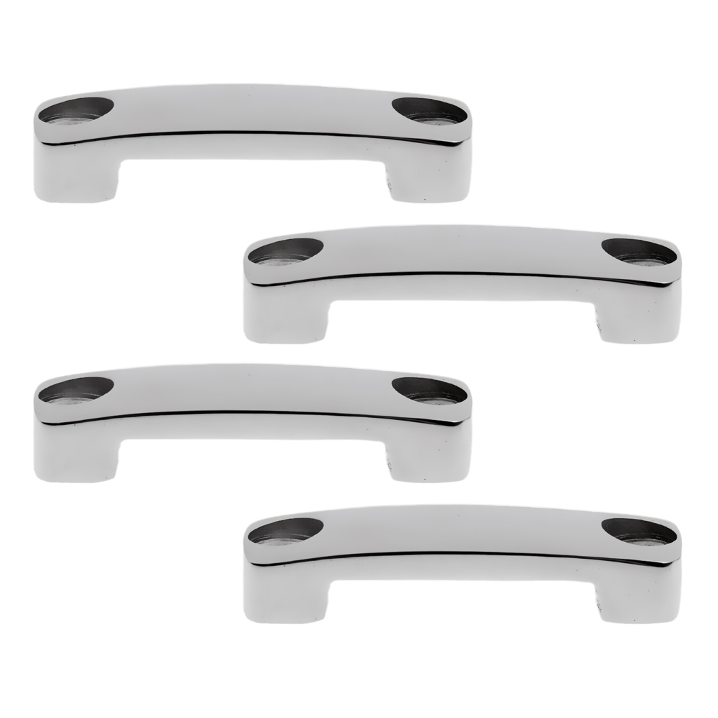 4 X Polished 316 Stainless Steel Boat Fender Lock Eye Strap Loop, Tie Down Anchor Rope Accessories Marine Hardware - Silver