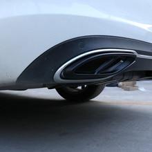 2 шт. матовый черный для Mercedes Benz GLC A B C E класс X253 W205 купе W213 W176 W177 W246- крышка выхлопной трубы Отделка