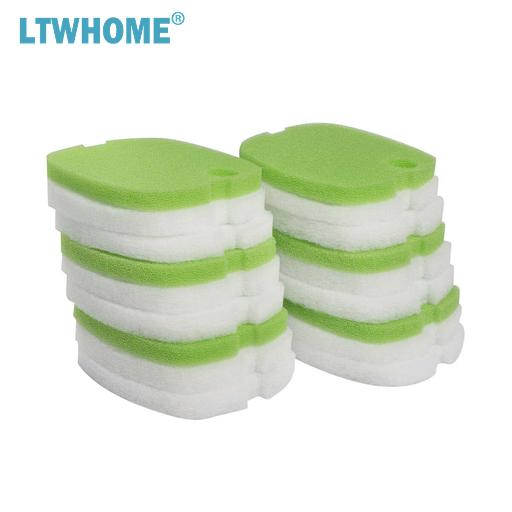 LTWHOME Replacement Coarse and Fine Filter Pads Sets Fit for Sunsun HW-302/505A Canister image