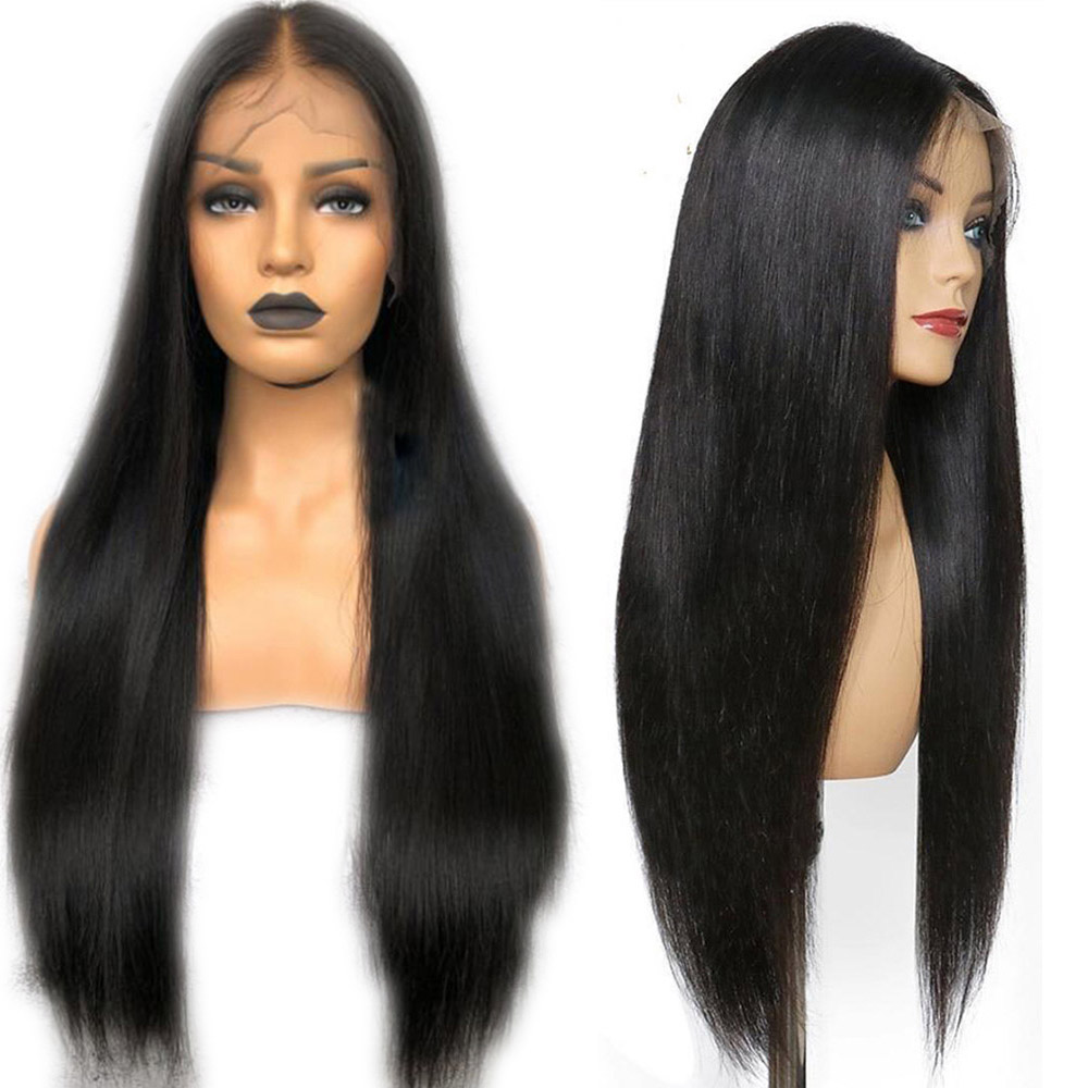 Eversilky Glueless Long Straight Full Lace Human Hair Wigs Brazilian Remy Pre Plucked Braided With Baby Hair For Black Women