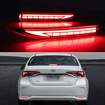 цена на LED rear bumper lights for Toyota Corolla 2019 2020 tail light daylight+brake+turn signal lamp three functions