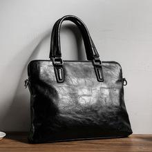 Męskie teczki skórzane torby męskie teczki torebki torebki biurowe torba męska skórzana torba na laptopa teczki biznesowe tanie tanio GOEMIMI Pojedyncze Wewnętrzna kieszeń Wnętrze slot kieszeń Miękki uchwyt 26cm 37cm zipper Klapa kieszeni Skóra syntetyczna