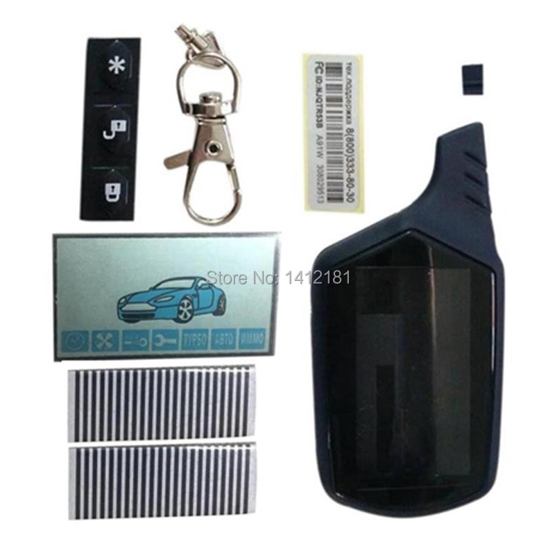 Keychain Car-Alarm-System Lcd-Display Remote-Control Starline A91 Russian Zebra-Paper title=
