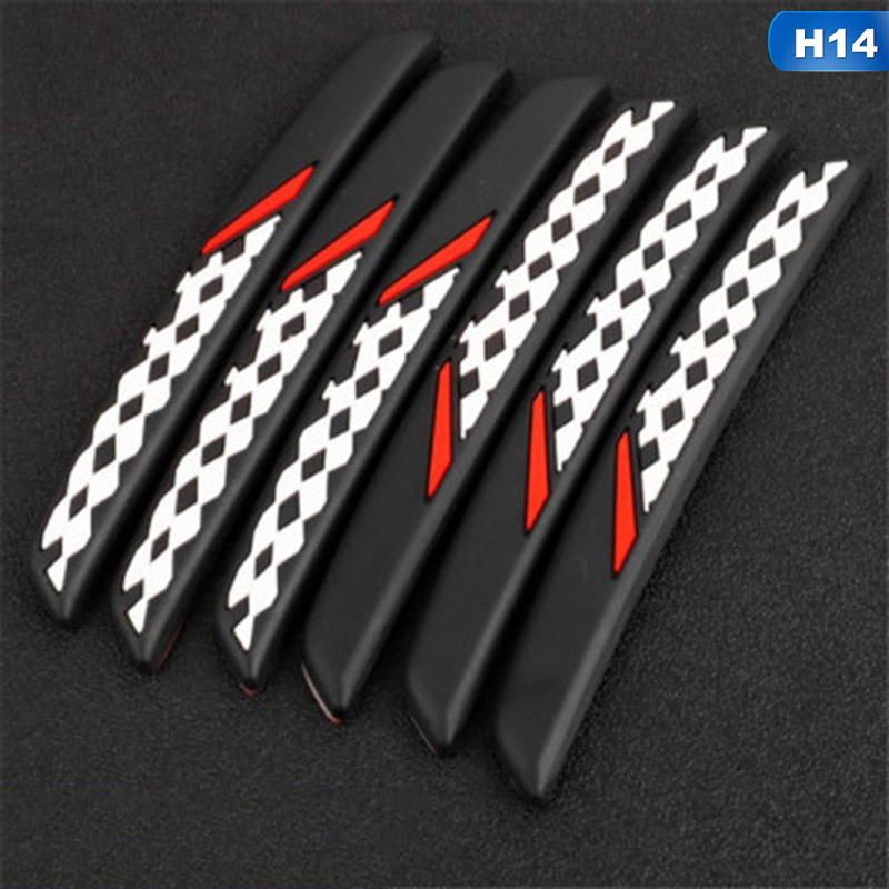 Image 3 - 6Pcs/Set Auto Car Door Guard Edge Corner Protector Guards Buffer Trim Molding Protection Strip Scratch Protector Car Door Crash-in Styling Mouldings from Automobiles & Motorcycles