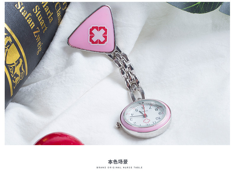 Life Waterproof Round Glass Variety Of Colors Stylish And Compact Easy To Carry Triangle Nurse Quartz Pocket Watch