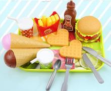 Ant girls toys Miniature Food mini food Trays Pretend Play Kitchen For Children Toys Fruit