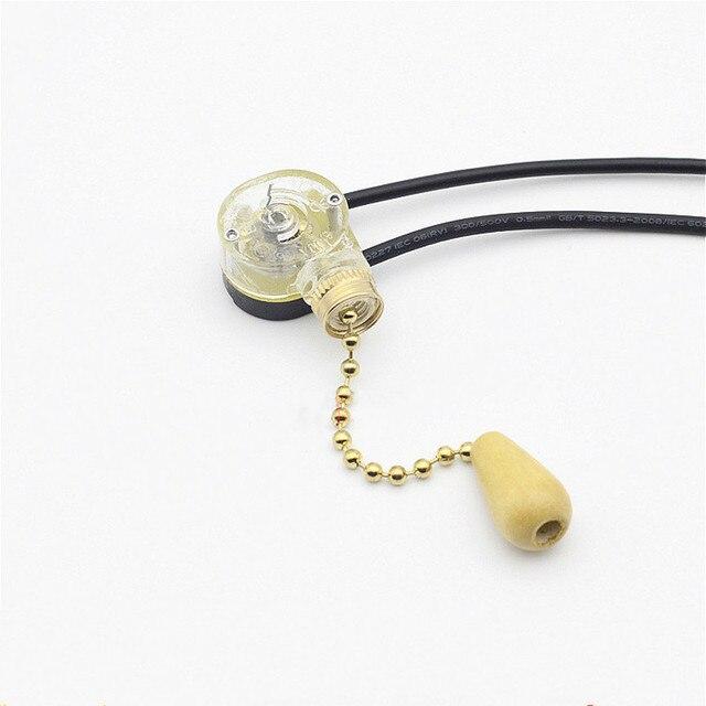 4 sztuk/partia Wall Light pull liny przełącznik uniwersalny przewód łańcucha kontroler dla showroom Home lampa sufitowa wentylator części zamienne