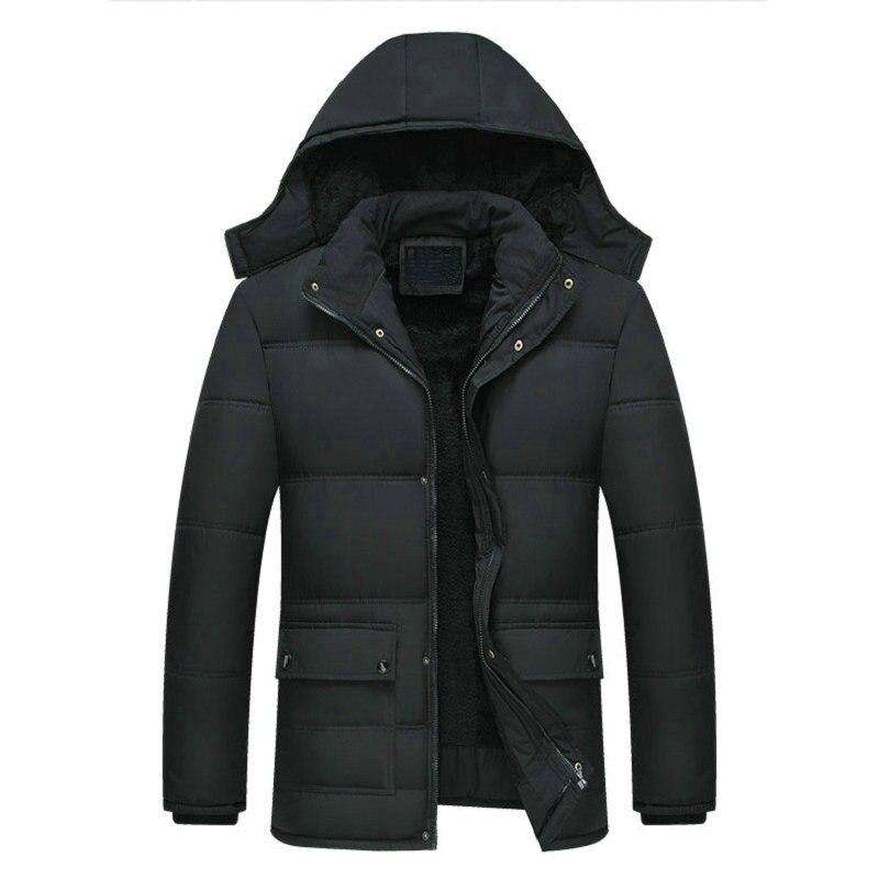 2019 New Men Jacket Coats -15 Degree Thicken Warm Winter Windproof Jackets Casual Mens Parka Hooded Outwear Cotton-padded Jacket