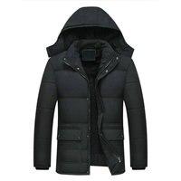 2020 Новая мужская куртка пальто-15 градусов утолщенная теплая зимняя ветрозащитная куртка повседневная мужская парка с капюшоном верхняя од...