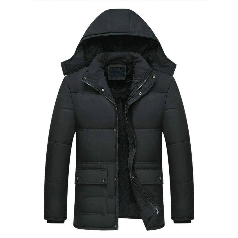 2020 New Men Jacket Coats -15 Degree Thicken Warm Winter Windproof Jackets Casual Mens Parka Hooded Outwear Cotton-padded Jacket