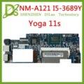 Kefu NM-A121 для lenovo Йога 11S материнская плата для ноутбуков FRU: 90003065 VIUU4 NM-A121 i7-3689Y Процессор оригинальный mothebroard 100% тестирование