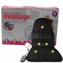 Full Body Motor Massage Car Seat Cushion Back Relief Chair Pad Heated Lumbar Massager Hot Selling Market Trend eu us microcomputer body massager chair massage heating seat vibrator back neck massagem cushion heat pad for legs massageador
