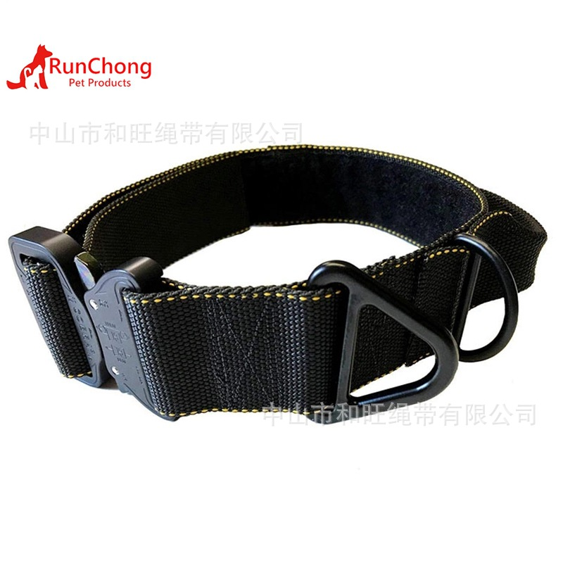 2019 New Products Pet Supplies Dog Neck Ring Large Dog Anti-Burst Neck Ring Tactical Pet Collar