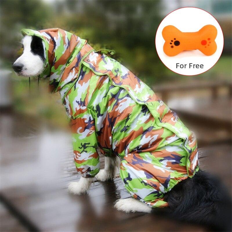 Водонепроницаемый дождевик для больших собак 2020, комбинезон для средних и мелких собак, уличное пальто золотистого ретривера для домашних животных|Плащи для собак|   | АлиЭкспресс