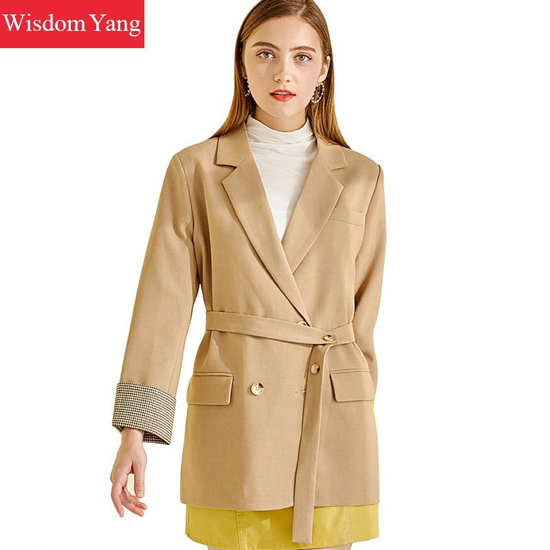 Autumn Elegant Suit Jacket Womens Khaki Windbreaker Korean Coat Female Business Coats Jackets Office Ladies Outerwear Overcoat