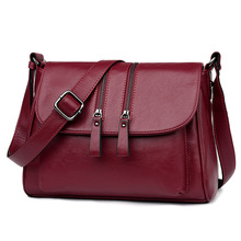 Womens Bag Middle Aged Mother Elegant Bag 2020 New Summer Ladies Bag Casual Fashion High Quality Wild Shoulder Messenger Bag new casual fashion loading and unloading handle women leather handbags atmosphere wild shoulder slung middle aged mother bag
