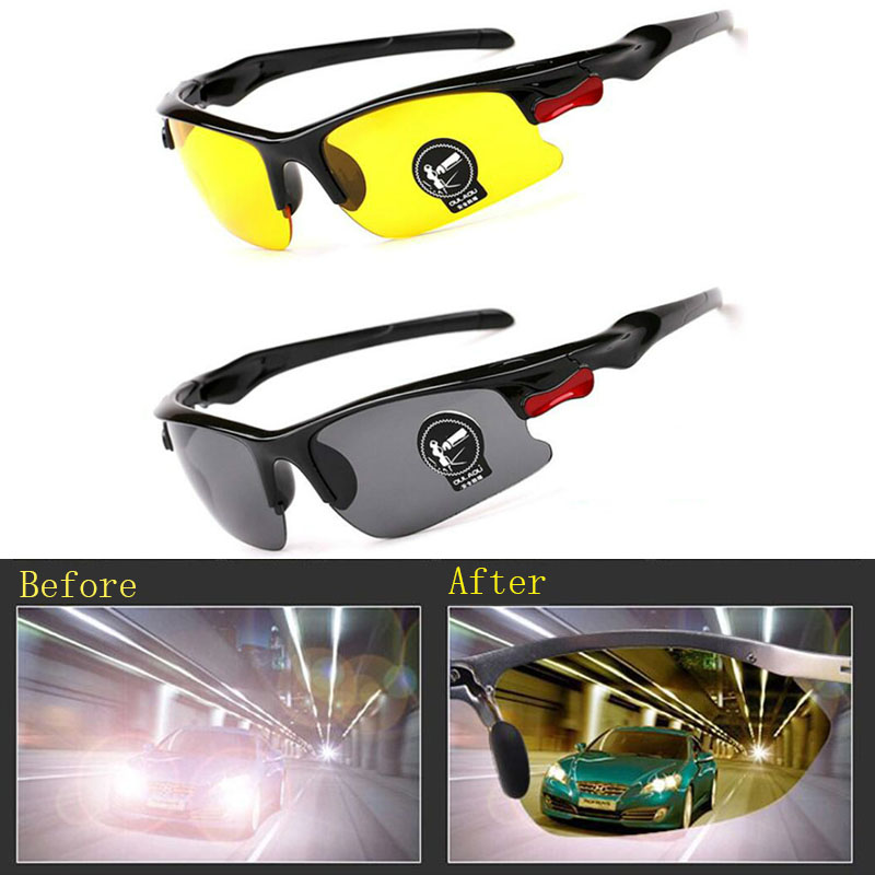 2019 New Luxury Night Vision Glasses Anti Glare Driving Glasses HD Vision Sun Glasses Laser Safety Goggles Male Shades