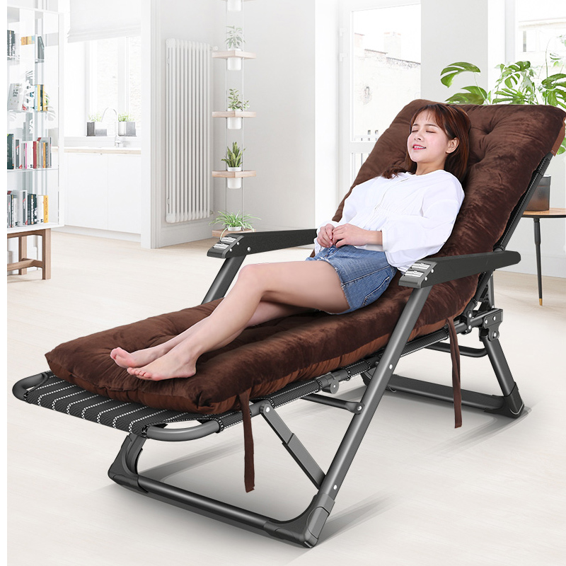 Folding Bed Single Portable Office Siesta Chair Bed Dual-purpose Recliner Multifunctional Reinforced Camp Bed