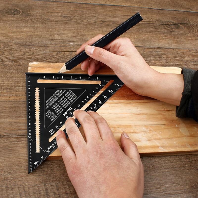 madeira mitra velocidade régua de medição quadrada para a construção
