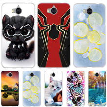 For Huawei Y5 2017 Case Silicon Cover for Y6 Phone Cases Cute Cat Dog Funda III / Honor 6 Play